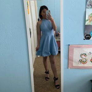 Backless Blue Windsor Dress!
